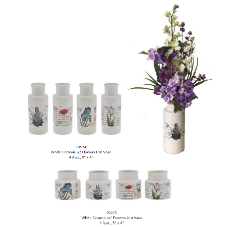 French Flower Urn Group
