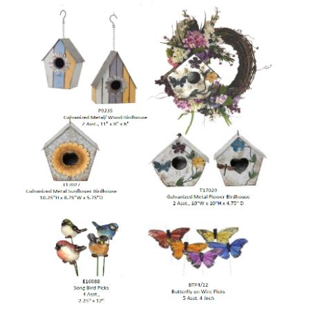 Galvanized Birdhouse Group