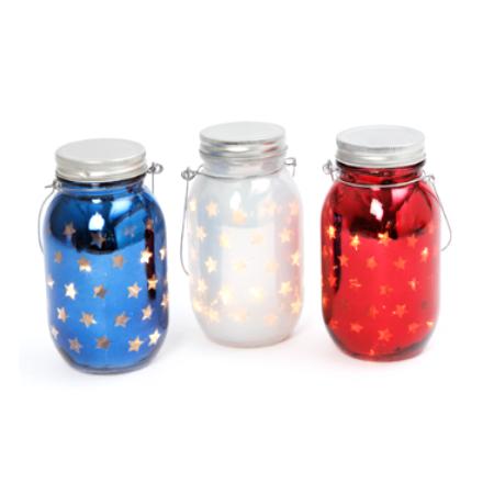 LED Lighted Glass Star Vases